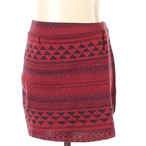 Urban Outfitters red & black boho bodycon skirt